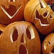 Carved Pumpkins Art Print