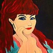 Cat Eye Woman Art Print