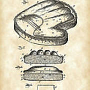 Catcher's Glove Patent 1891 - Vintage Art Print