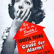 Cause For Alarm, Us Poster, Loretta Art Print