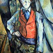 Cezanne's Boy In Red Waistcoat Art Print