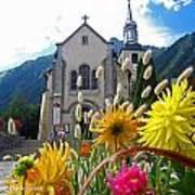 Chamonix Church Art Print