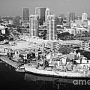 Channel District Tampa Florida Art Print