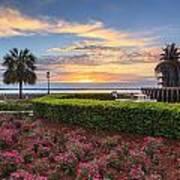 Charleston Sc Waterfront Pineapple Fountain Art Print