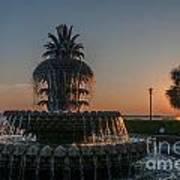 Pineapple Fountain Charleston Sc Sunrise Art Print