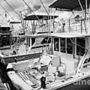 Charter Fishing Boats In The Old Seaport Of Key West Florida Usa Art Print