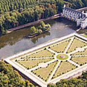 Chateau De Chenonceau And Its Gardens Art Print