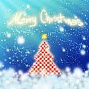 Chess Style Christmas Tree Art Print