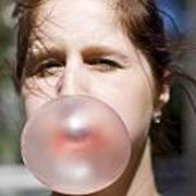 Chewing Gum Lady Art Print