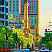 Chicago Water Tower Beacon Art Print