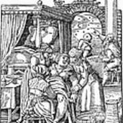 Childbirth, 1580 Art Print