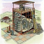 Chinese Astronomical Clocktower Built Art Print