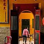 Chinese Temple In Ho Chi Minh Vietnam Art Print