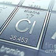 Chlorine Chemical Element Art Print
