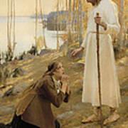 Christ And Mary Magdalene  Art Print