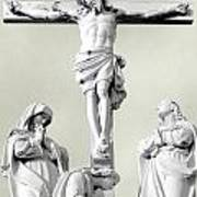 Christ On The Cross With Mourners Evansville Indiana 2006 Art Print