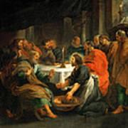 Christ Washing The Apostles' Feet Art Print
