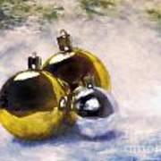 Christmas Balls Artistic Vintage Painting Art Print