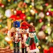 Christmas Figures Art Print