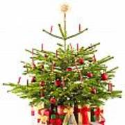 Christmas Tree Decorated With Presents Art Print