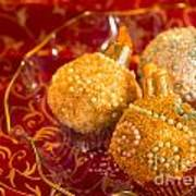 Christmasball Cupcakes Art Print