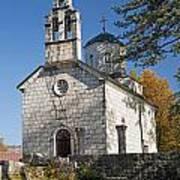 Church In Cetinje Montenegro Art Print
