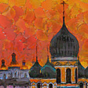 Church Sunset Art Print