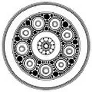 Circle Motif 138 Art Print