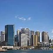 Circular Quay In Central Sydney Australia Art Print