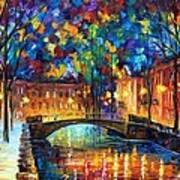 City Bridge Art Print by Leonid Afremov