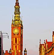 City Hall In Gdansk Art Print