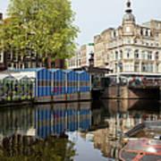 City Of Amsterdam Cityscape Art Print