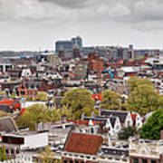 City Of Amsterdam From Above Art Print