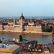 City Of Budapest Cityscape Art Print