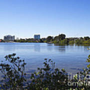 City Of Melbourne On The Intracoastal Waterway In Central Florid Art Print