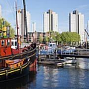 City Of Rotterdam Cityscape In Netherlands Art Print