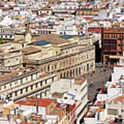 City Of Seville Cityscape In Spain Art Print