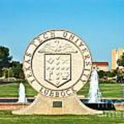 Classical Image Of The Texas Tech University Seal  Art Print