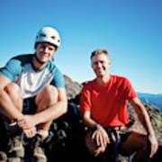 Climbing Foley Peak Art Print