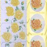 Climbing Yellow Roses Art Print