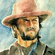 Clint Eastwood Art Print by Nitesh Kumar