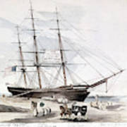 Clipper Flying Cloud, 1851 Art Print
