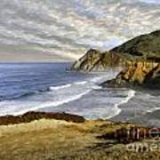 Coastal Beauty Impasto Art Print