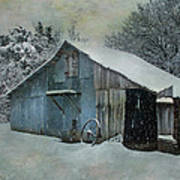 Cold Day On The Farm Art Print