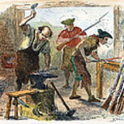 Colonial Blacksmith, 1776 Art Print