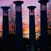 Colonnade In A Park At Sunset, 95 Bell Art Print
