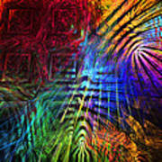 Colorful Psychedelic Abstract Fractal Art Art Print