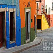 Colorful Street, Mexico Art Print