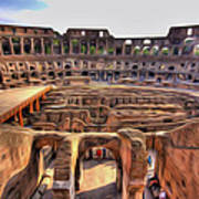 Colosseum In Rome Art Print