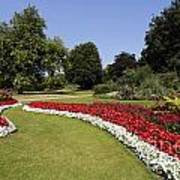 Colourful Flowerbeds In Hyde Park In London England Art Print